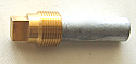 CAT 6L2283 Pencil Zinc (1/4-20 thread) with Square Plug