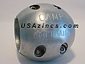"""X-14 SHAFT ZINC ANODE-CAMP CO.  3-1/4""""  Special Order allow 3 extra days"""